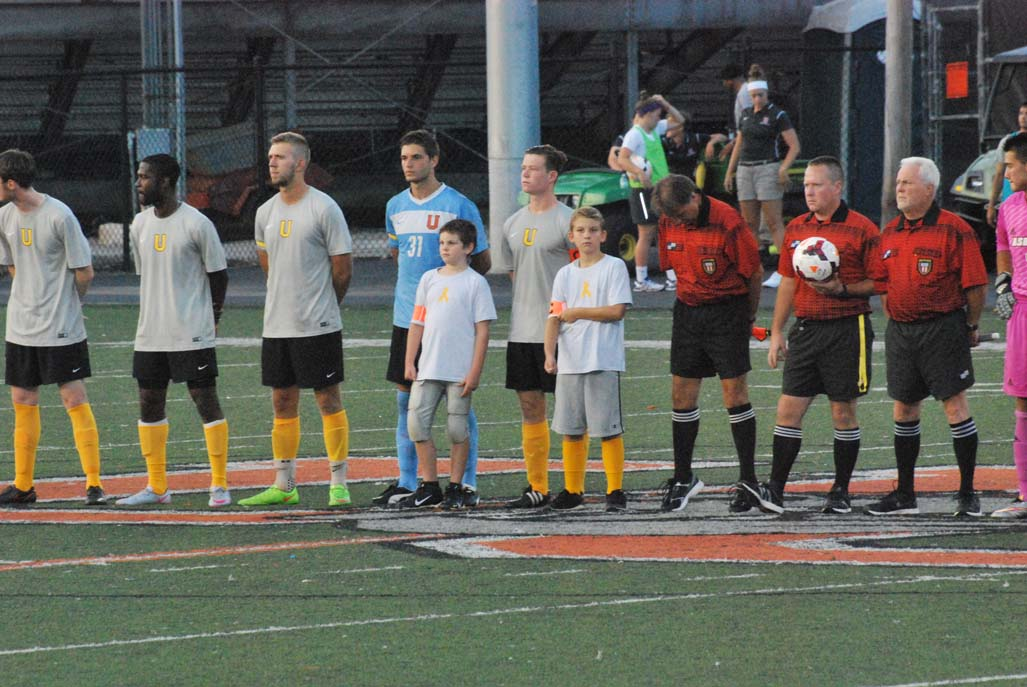 1st MSoc vs. Asbury (Childhood Cancer Awarness Match)  Photo