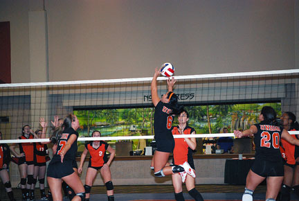 7th Volleyball vs. Milligan-AAC Tourney Photo