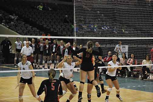 6th Volleyball vs. Hastings (NAIA Tournament) Photo