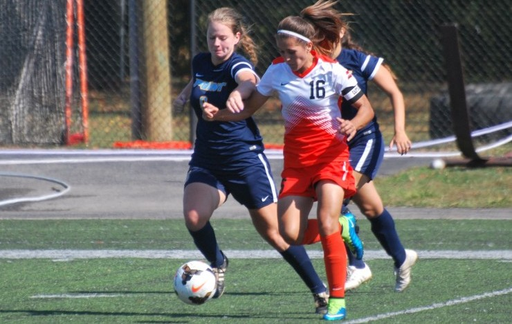 Photo for Women's Soccer Upsets Point 2-1 In AAC Play