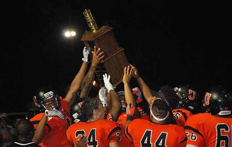 Photo for Bulldogs Bring Home the Brass, Beat Patriots 49-45