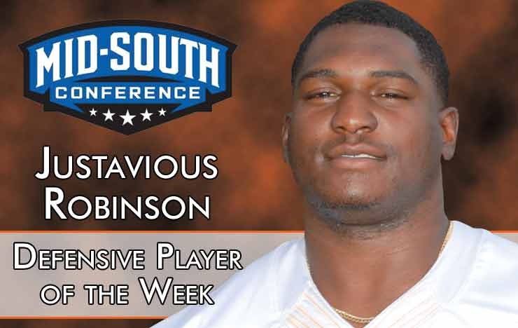 Photo for Robinson Named MSC East Defensive Player of Week
