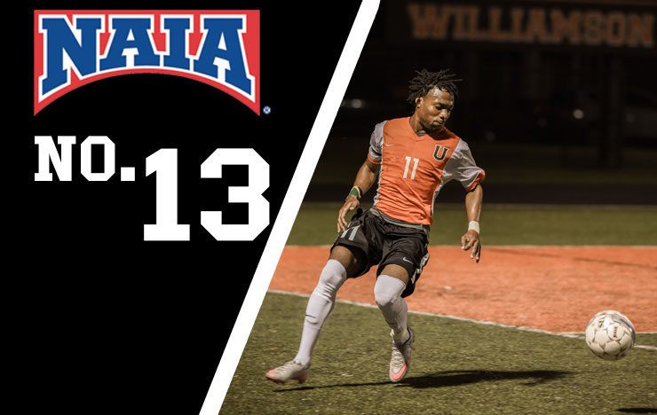 Photo for Men's Soccer Remains No. 13 In NAIA Top 25 Poll